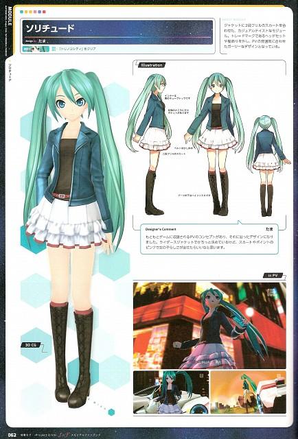 Project Diva F & F Memorial Fan Book, Vocaloid, Miku Hatsune, Character Sheet