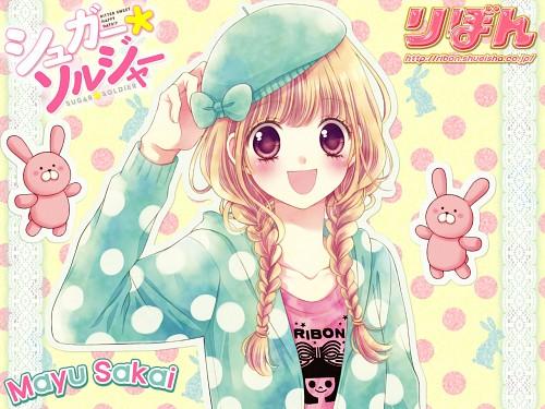 Mayu Sakai, Sugar*Soldier, Makoto Kirasagi, Official Wallpaper, Ribon