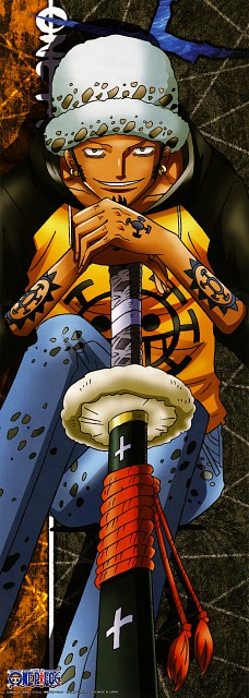Eiichiro Oda, Toei Animation, One Piece, Trafalgar Law, Stick Poster