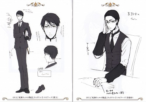 Yana Toboso, A-1 Pictures, Kuroshitsuji, William T. Spears, Character Sheet