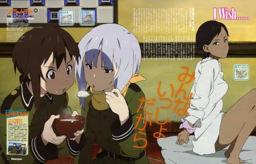 A-1 Pictures, Sora no Woto, Noel Kannagi, Kanata Sorami, Aisha Aldola