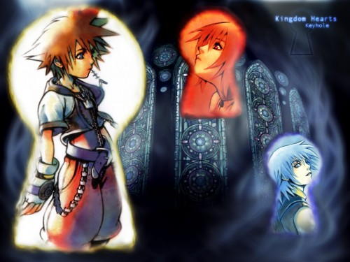 Square Enix, Kingdom Hearts, Sora, Kairi, Riku Wallpaper
