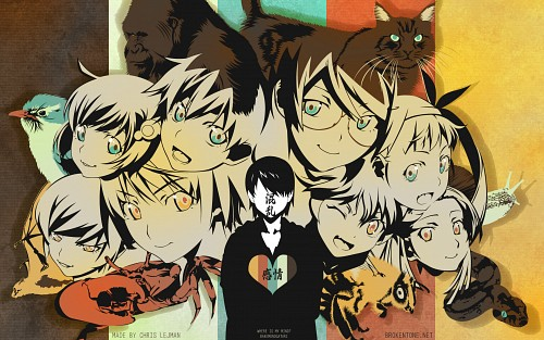 Shaft (Studio), Bakemonogatari, Tsukihi Araragi, Shinobu Oshino, Koyomi Araragi Wallpaper