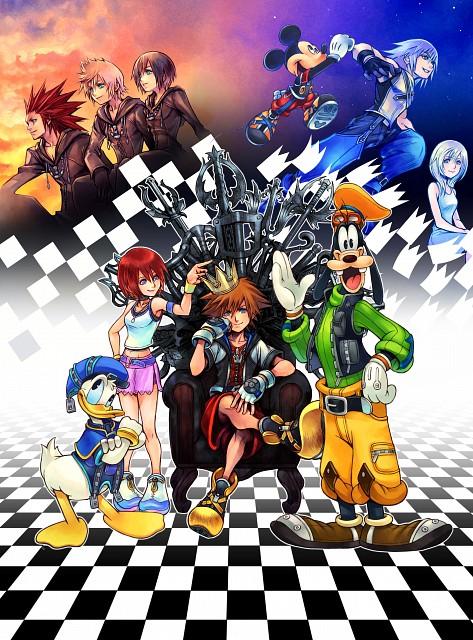 Square Enix, Kingdom Hearts, Xion, Goofy, Axel