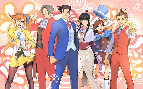 Capcom, Ace Attorney, Miles Edgeworth, Apollo Justice, Athena Cykes Wallpaper