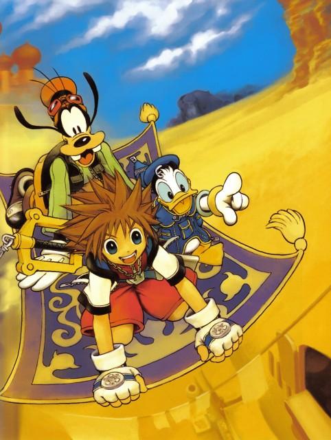 Shiro Amano, Art Works Kingdom Hearts, Kingdom Hearts, Sora, Goofy