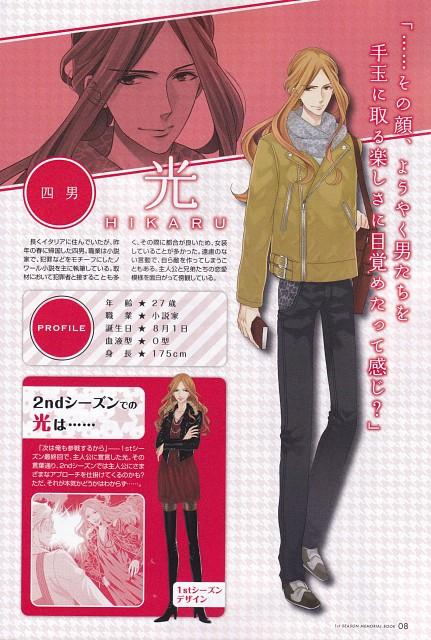 Udajo, Idea Factory, Brothers Conflict, Hikaru Asahina, Character Sheet