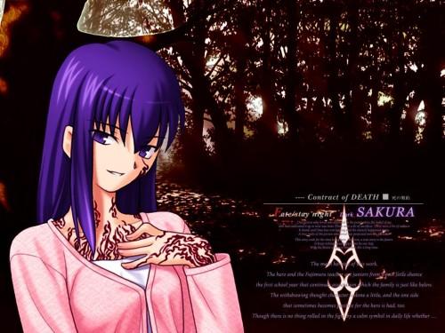 TYPE-MOON, Fate/stay night, Sakura Matou Wallpaper