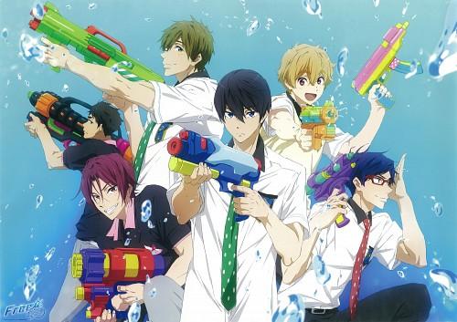 Kyoto Animation, Free!, Makoto Tachibana, Rei Ryuugazaki, Haruka Nanase (Free!)