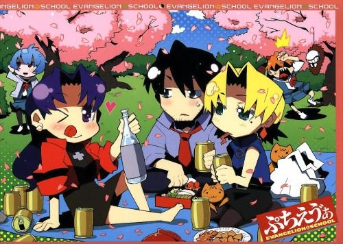 Ryusuke Hamamoto, Neon Genesis Evangelion, Petit Eva 2008 Calendar, Rei Ayanami, Asuka Langley Soryu