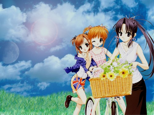 Naoto Tenhiro, Sister Princess, Haruka (Sister Princess), Hinako, Yotsuba (Sister Princess) Wallpaper