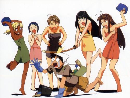 Ken Akamatsu, Love Hina, Naru Narusegawa, Kaolla Su, Shinobu Maehara