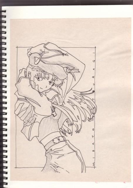 Yoshiyuki Sadamoto, Neon Genesis Evangelion, Misato Katsuragi, Member Art