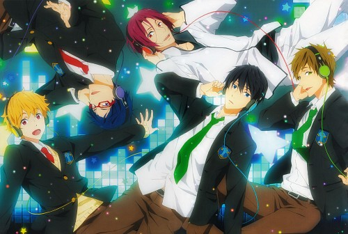 Kyoto Animation, Free!, Rei Ryuugazaki, Rin Matsuoka, Haruka Nanase (Free!)