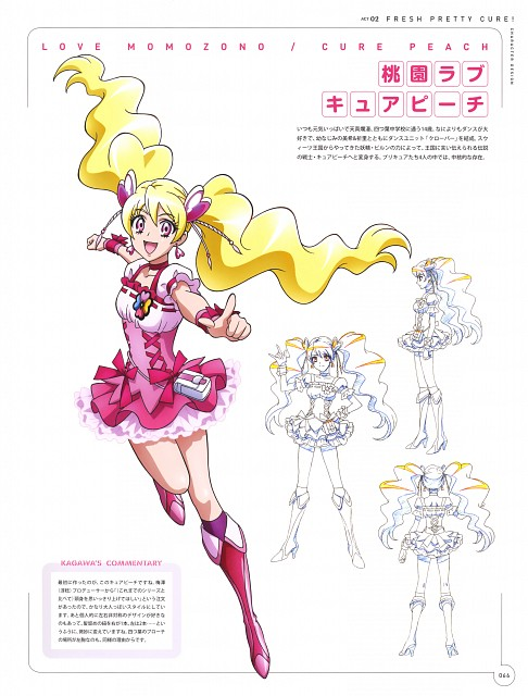 Toei Animation, Fresh Precure!, Hisashi Kagawa Toei Animation Precure Works, Cure Peach, Character Sheet