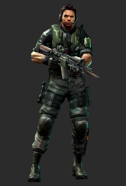 Capcom, Resident Evil: Revelations, Chris Redfield, Official Digital Art