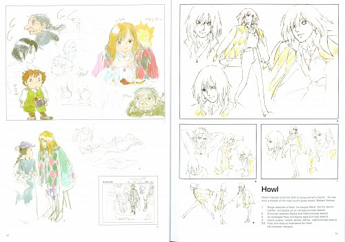 Studio Ghibli, Howl's Moving Castle, Howl Jenkins, Character Sheet