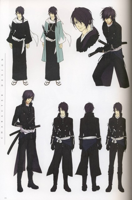 Yone Kazuki, Idea Factory, Hakuouki Shinsengumi Kitan, Hajime Saitou (Hakuouki), Character Sheet