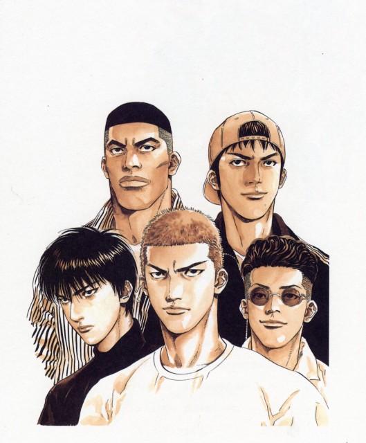 Takehiko Inoue, Slam Dunk, Inoue Takehiko Illustrations, Takenori Akagi, Kaede Rukawa