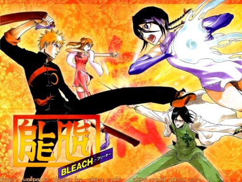 Kubo Tite, Studio Pierrot, Bleach, Rukia Kuchiki, Uryuu Ishida Wallpaper