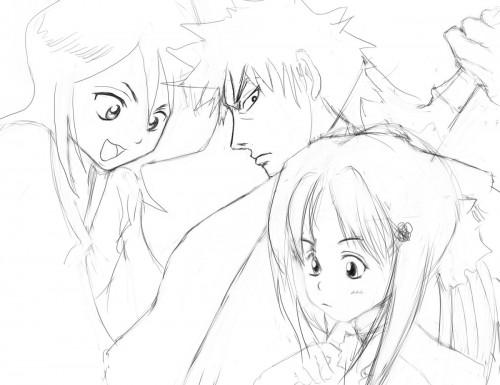 Kubo Tite, Studio Pierrot, Bleach, Orihime Inoue, Rukia Kuchiki