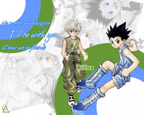 Yoshihiro Togashi, Hunter x Hunter, Killua Zaoldyeck, Gon Freecss Wallpaper