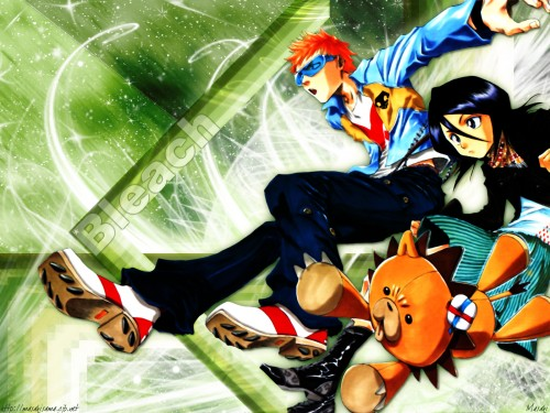 Kubo Tite, Studio Pierrot, Bleach, Kon, Rukia Kuchiki Wallpaper