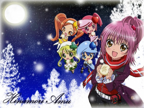 Peach-Pit, Satelight, Shugo Chara, Amu Hinamori, Su Wallpaper