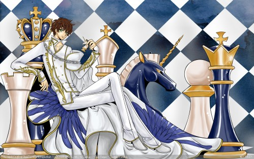CLAMP, Sunrise (Studio), Lelouch of the Rebellion, Suzaku Kururugi, Vector Art Wallpaper