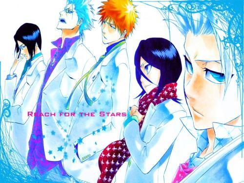 Kubo Tite, Studio Pierrot, Bleach, Grimmjow Jeagerjaques, Rukia Kuchiki Wallpaper