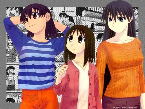 Kiyohiko Azuma, J.C. Staff, Azumanga Daioh, Ayumu Kasuga (Azumanga Daioh), Tomo Takino Wallpaper