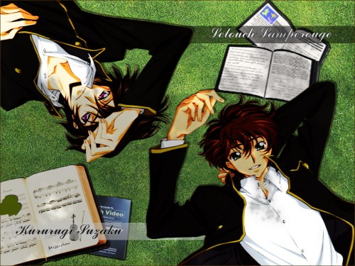 Sunrise (Studio), Lelouch of the Rebellion, Suzaku Kururugi, Lelouch Lamperouge Wallpaper