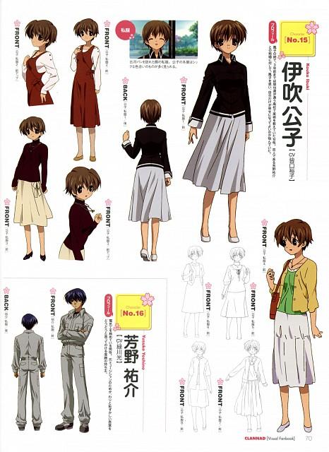 Kyoto Animation, Clannad, Kouko Ibuki, Yusuke Yoshino, Character Sheet