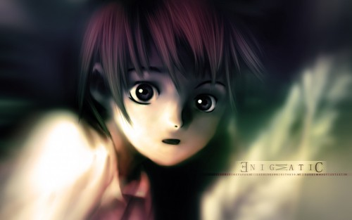 Serial Experiments Lain, Lain Iwakura, Vector Art Wallpaper