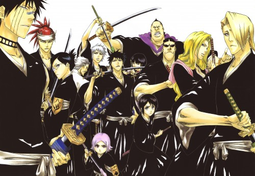 Kubo Tite, Bleach, All Colour But The Black, Nemu Kurotsuchi, Isane Kotetsu