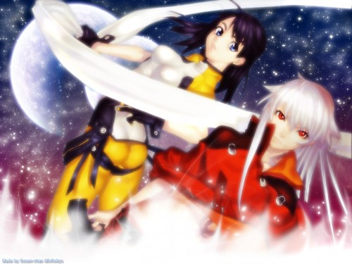 Ugetsu Hakua, Gonzo, Burst Angel, Megumi, Jo Wallpaper