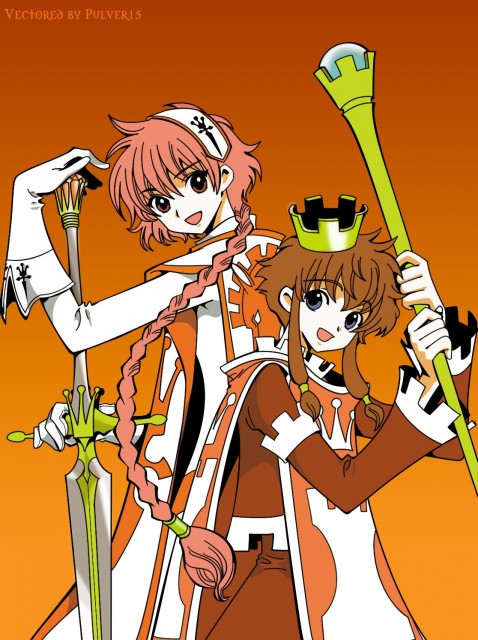 Angelic Layer, Magic Knight Rayearth, Hikaru Shidou, Misaki Suzuhara, Vector Art