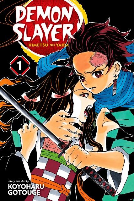 Kimetsu no Yaiba, Nezuko Kamado, Tanjirou Kamado, Manga Cover