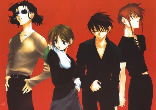 Kyoko Tsuchiya, Weiss Kreuz, Youji Kudou, Ran Fujimiya, Ken Hidaka