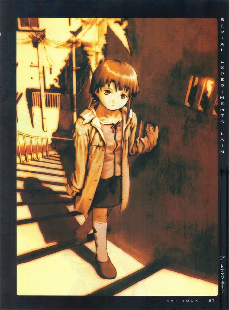 Yoshitoshi Abe, Serial Experiments Lain, An Omnipresence in Wired, Girls - Artbook VI, Lain Iwakura