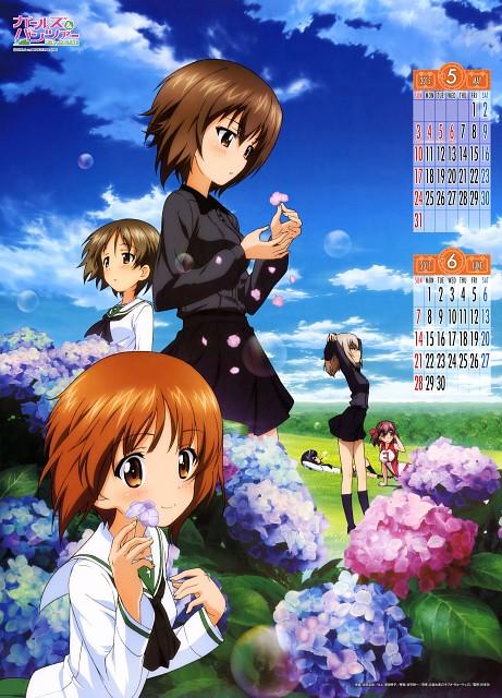 Actas, GIRLS und PANZER, GIRLS und PANZER 2015 Calendar, Mako Reizei, Maho Nishizumi