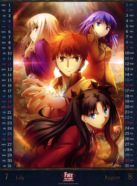 Takashi Takeuchi, TYPE-MOON, Ufotable, Fate/stay night [UBW] 2015 Calendar, Fate/stay night