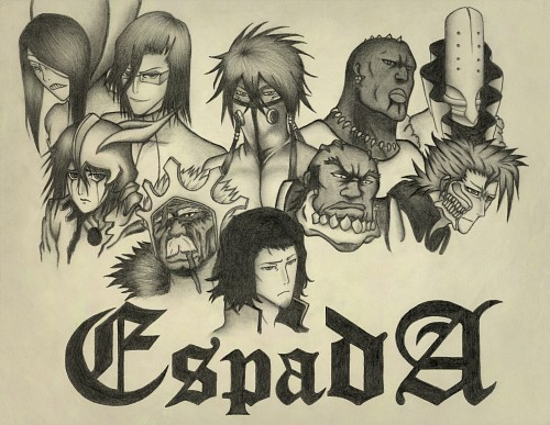 Bleach, Szayel Aporro Granz, Coyote Starrk, Grimmjow Jeagerjaques, Nnoitra Jiruga