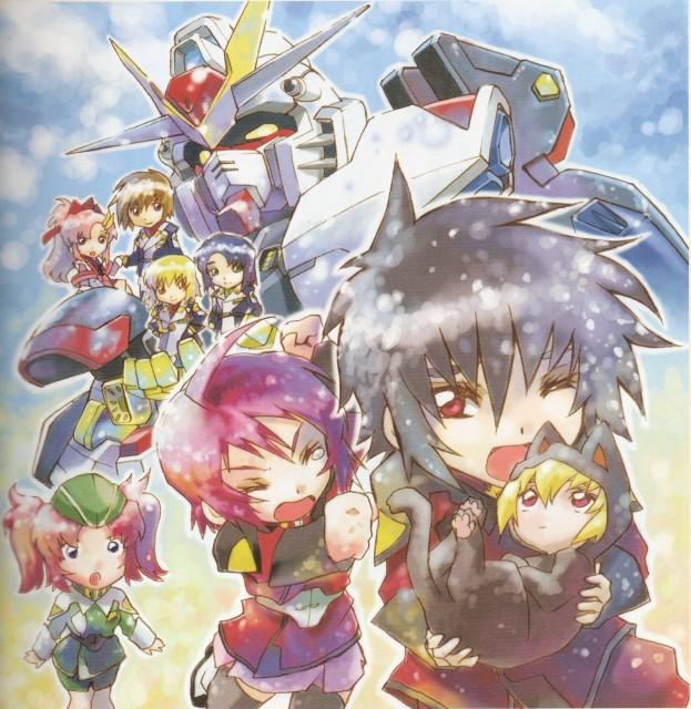 RGB, Mobile Suit Gundam SEED Destiny, Meyrin Hawke, Stellar Loussier, Cagalli Yula Athha