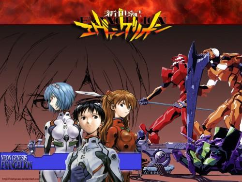 Yoshiyuki Sadamoto, Neon Genesis Evangelion, Kaworu Nagisa, Shinji Ikari, Rei Ayanami Wallpaper