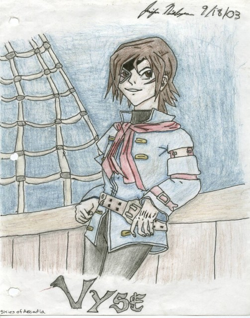 Eternal Arcadia, Vyse, Member Art
