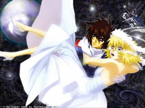 Sunrise (Studio), Mobile Suit Gundam SEED Destiny, Cagalli Yula Athha, Kira Yamato Wallpaper