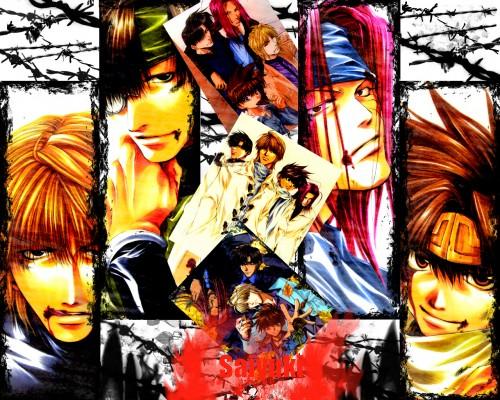 Kazuya Minekura, Studio Pierrot, Saiyuki, Son Goku (Saiyuki), Cho Hakkai Wallpaper