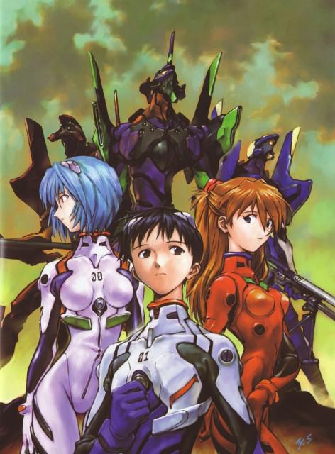 Yoshiyuki Sadamoto, Neon Genesis Evangelion, Der Mond, Unit-01, Shinji Ikari