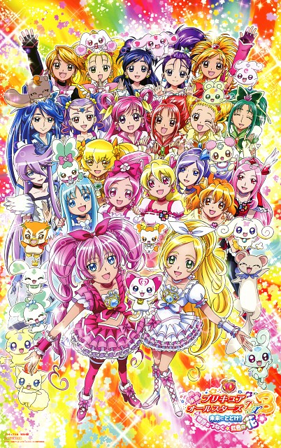 Toei Animation, Precure All Stars, Precure Pia, Chiffon, Cure Moonlight